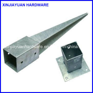 Prime Quality Steel Pole Anchor with White Zinc Coating pictures & photos