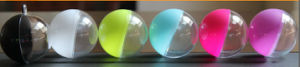 Ball Shape Clear Plastic Box, for Christmas/Candy, with Ribbon pictures & photos