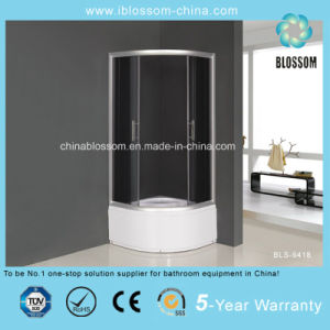 Hangzhou Grey Glass Sector Corner Simple Shower Cabin (BLS-9418) pictures & photos