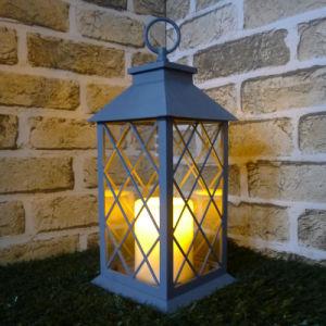 Metal Molded Porch Plastic LED Lantern