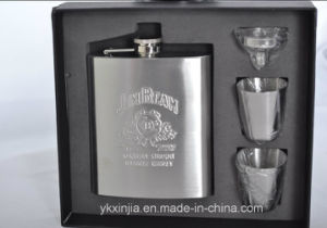 6oz Hip Flask + 2 Cups + 1 Funnel pictures & photos