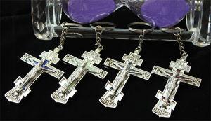 Fashion Metal Religion Cross Key Chain Crafts Nativity Set (MX084)