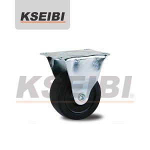 Hot Sale Kseibi Light Duty Rigid Plate Rubber Caster pictures & photos