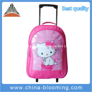 Lovely Kids Back to School Wheeled Trolley Rolling School Bag pictures & photos