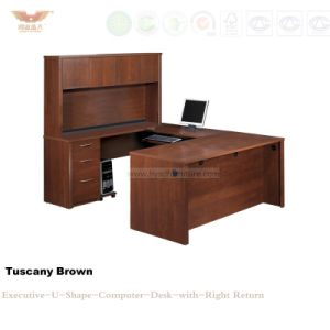 Fsc Certified Classical Wood Veneer Computer Desk (HY-D2416) pictures & photos