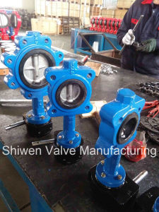 Gear Operated PTFE Lined Lug Type Butterfly Valve pictures & photos