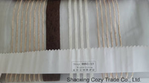 New Popular Project Stripe Organza Sheer Curtain Fabric 008213 pictures & photos