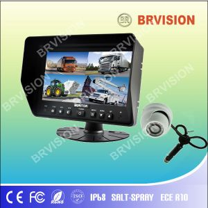 Bus Surveillance System/7inch Quad Split Car Monitor/Dome Camera pictures & photos