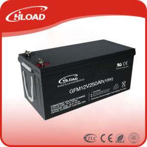Hiload 12V 100ah-250ah Deep Cycle Solar Battery Gel Battery pictures & photos