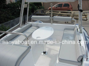 Liya 6.2m 6.6m Deep V Fiberglass Hull Hypalon Tube Popular Rib with CE Boat pictures & photos