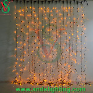 Rubber Cable Outdoor Christmas Curtain Light pictures & photos