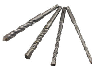 SDS-Plus Hammer Drill Bit with Flat Head Sandblasting Finish pictures & photos