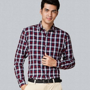 Men′s Checked Latest Design Fashion Casual Dress Shirts pictures & photos