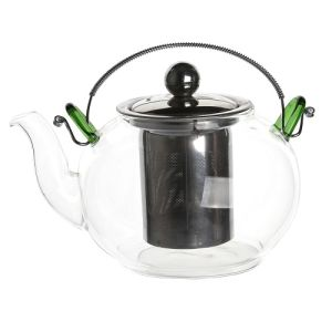 900ml Stainless Steel Heat Resistant Glass Teapot