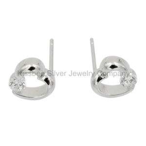Fashion 925 Sterling Silver Jewelry Heart Stud Earrings (KE3079) pictures & photos