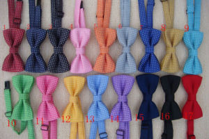 100% Polyester Solid Bow Tie