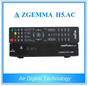 Zgemma H5. AC with DVB-S2 ATSC Combo Tuners MPEG4 H. 265 Hevc Smart TV Box for Mexico pictures & photos