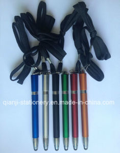 Plastic Stylus Pen with Rope Touch Pen for Promotion (T2001) pictures & photos