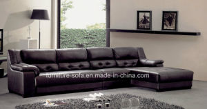 Modern Living Room Furniture Hot Sales Top Leather Sofa Set (SO04)