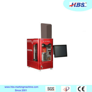 20W Fiber Laser Marking Machine with Enclosed Cabinet pictures & photos