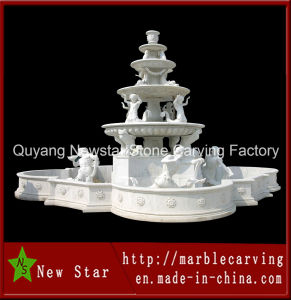 Marble Stone Carving Outdoor Water Fountain Decoration (NS-229) pictures & photos