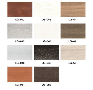 Eco-Friendly WPC Warfdrobe Sliding Door Panel Furniture Material (PB-171-7) pictures & photos