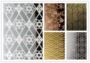 Decorative Etched Stainless Steel Sheet Plate pictures & photos