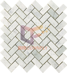 Splash Used Carrara White Marble Mosaic Tile for Wall Decoration (CFS1099) pictures & photos