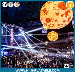 Event Ceiling Decoration Inflatable Planet Ball with LED Lights