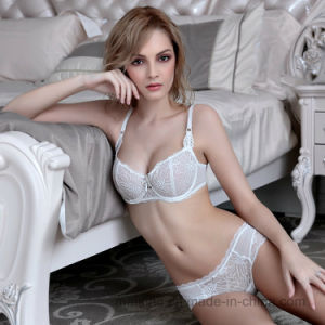 Hot Selling European Style Ladies Lace Brief and Bra pictures & photos