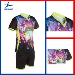 Healong Customized Digital Printing Table Tennis Uniforms pictures & photos