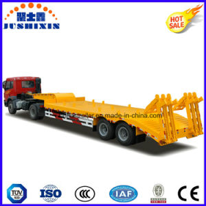 13m*3m*1.5m 2 Axles 60tons Lowboy Semi Truck Trailer pictures & photos