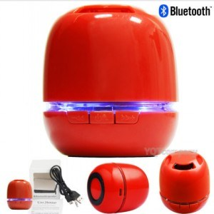 Wireless Portable Bluetooth Mini TF USB Speaker with LED Light