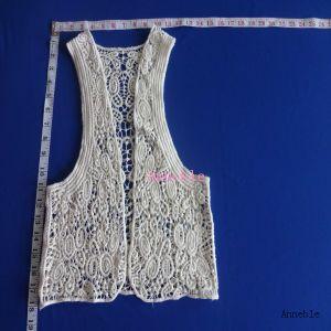 Cotton Crochet Lace Vest