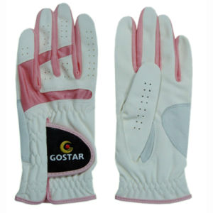 Synthetic Leather Golf Glove with Leather Patch (PGL-32) pictures & photos