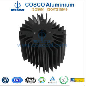 Aluminum/Aluminium Sunflower Heat Sink with CNC Machining & Anodizing pictures & photos