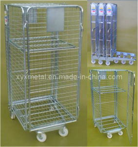 Foldable Roll Container Trolley Cage pictures & photos