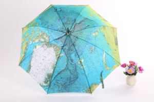 Earth Printing Straight Umbrella (BD-25) pictures & photos