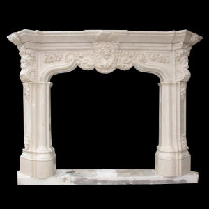 White Marble Carving Fireplace FRP524 pictures & photos