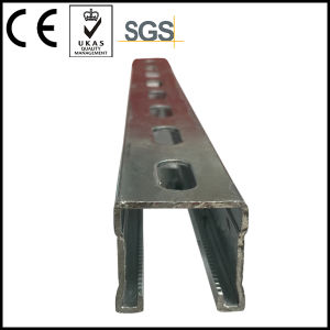 Stainless Steel Toothed Strut Channel with Rib