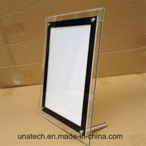 on Desk Crystal Acrylic Advertising LED Light Box pictures & photos