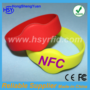 2013 Popular Design Waterproof Silicone Nfc Tag (HSY-WB)