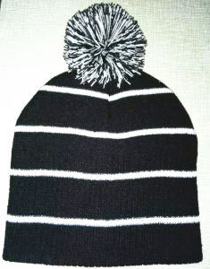 Embroidery, Stripe Roll Edge, Knitting Wool Caps (S-1061) pictures & photos