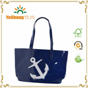Latest Design Ladies Shiny PVC Beach Bags Tote Handbag pictures & photos