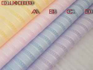 Yarn Dyed Polyester Cotton Dobby Fabric Shirting Djx009 pictures & photos