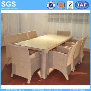 Outdoor Restaurant Rattan Furniture 8 Seater Dining Set Table and Chairs pictures & photos