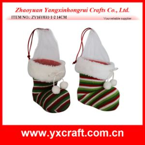 Christmas Decoration (ZY16Y031-1-2 14CM) Merry Christmas Christmas Boot Candy Container pictures & photos