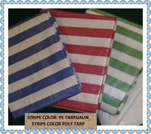 Stripe Color PE Tarpaulin Poly Tarp pictures & photos