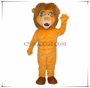 Perfect Muscle Orange Color Lion Mascot From China Factory