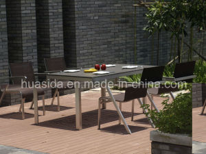 1.6m 4-Seats Stainless Steel Dining Table Set pictures & photos